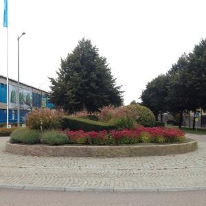 Trädgårdsinstallation i rondell